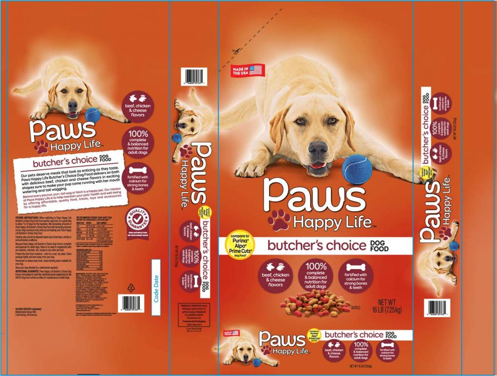 Paws Happy Life by Sunshine Mills Inc. is seen in a photo provided by the U.S. Food and Drug Administration in a recall announcement in September 2020.