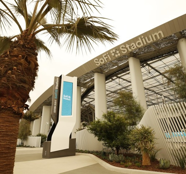 The exterior of SoFi Stadium in Inglewood is seen in this undated photo. (Al Seib/Los Angeles Times)