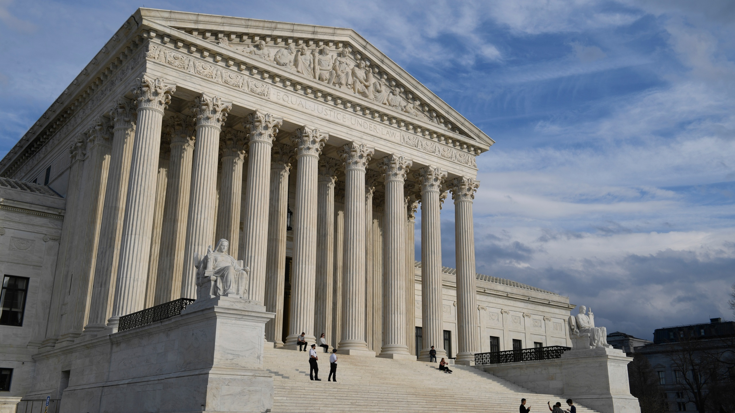 This March 15, 2019 file photo shows a view of the Supreme Court in Washington. (AP Photo/Susan Walsh)