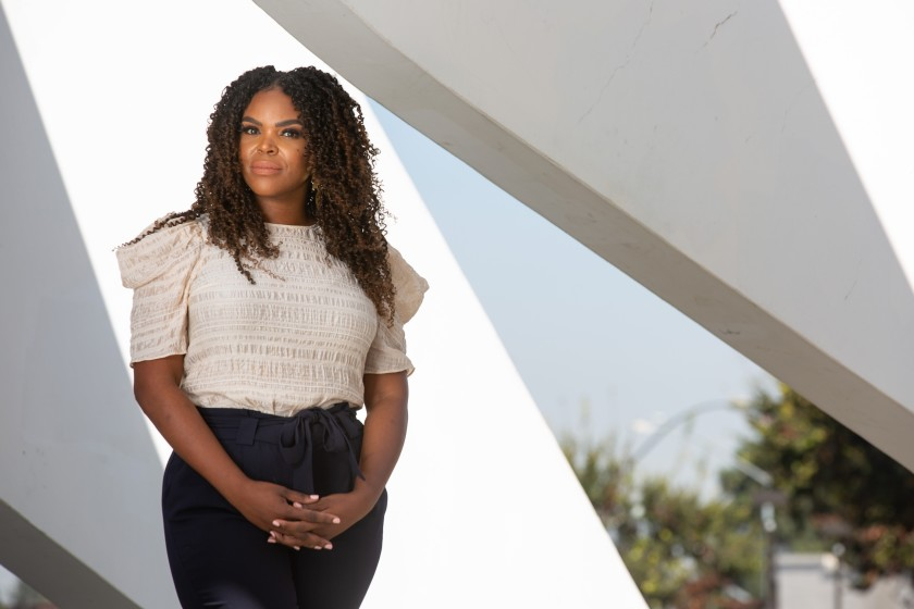 """""""This is a great opportunity to address inequalities for Black and Brown people and also additional opportunities for upward mobility,"""" says Compton Mayor Aja Brown, who's seen in this undated photo. (Jason Armond / Los Angeles Times)"""