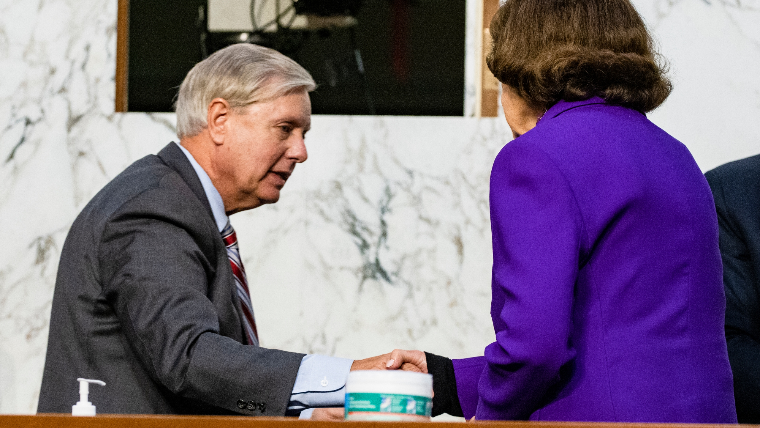 sen feinstein s embrace with sen graham prompts calls for her ouster from democratic leadership ktla https ktla com news politics sen feinsteins embrace with sen graham prompt calls for her ouster from democratic leadership