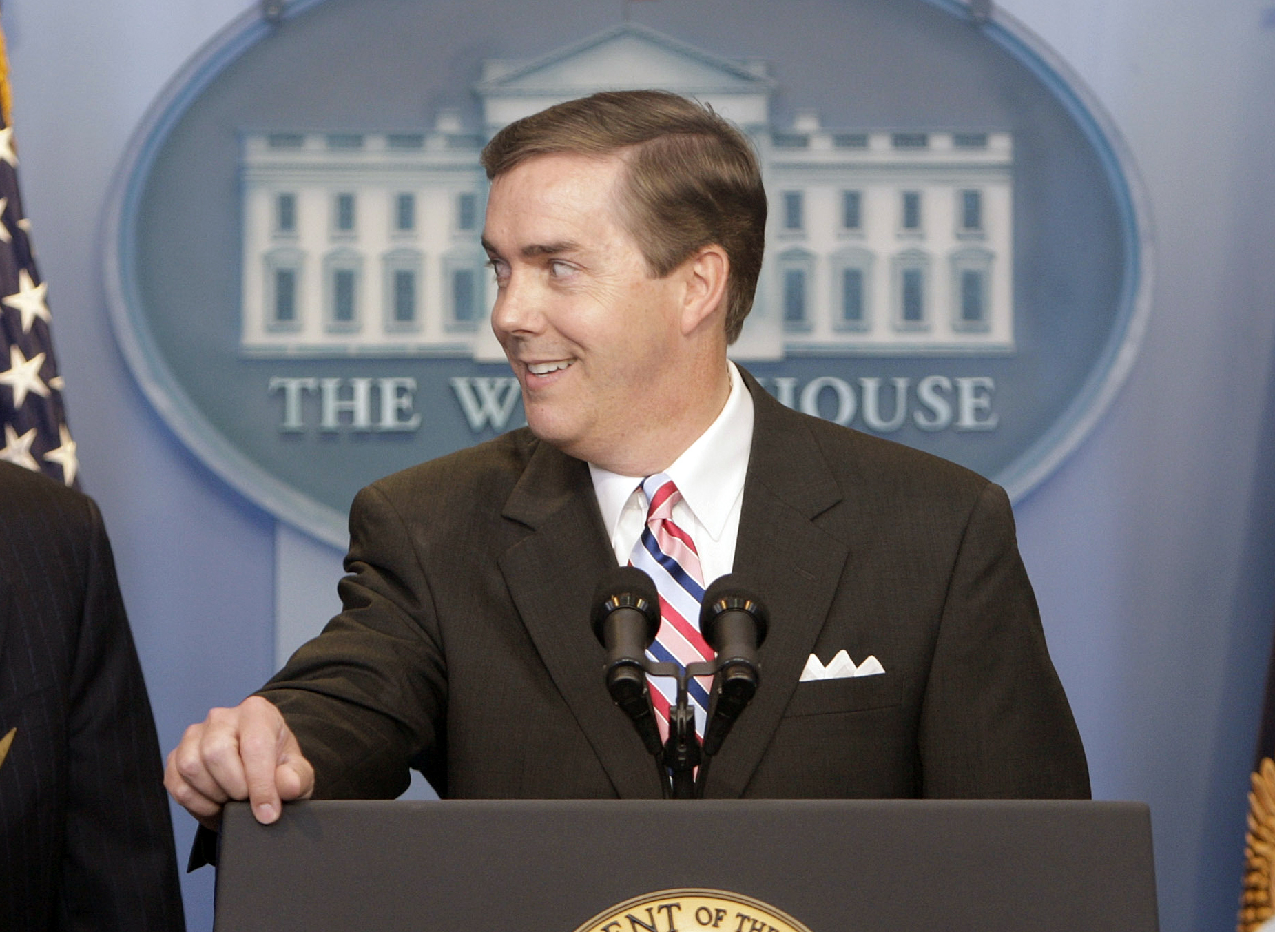 White House Correspondents Association President Steve Scully appears at a ribbon-cutting ceremony for the James S. Brady Press Briefing Room at the White House on July 11, 2007. (Ron Edmonds/Associated Press)