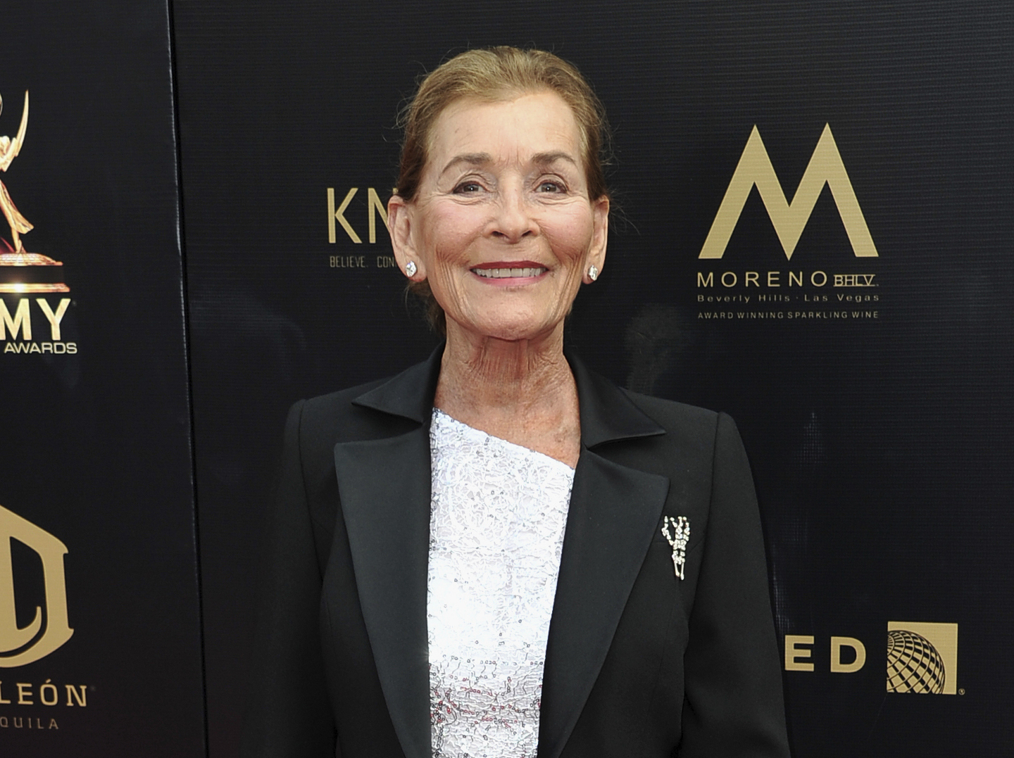 "Judge Judy Sheindlin arrives at the 46th annual Daytime Emmy Awards in Pasadena on May 5, 2019. Sheindlin, whose long-running syndicated courtroom show ""Judge Judy"" will end production in 2021, will be dispensing justice on an exclusive show in the U.S. for IMDb TV. (Richard Shotwell/Invision/Associated Press)"