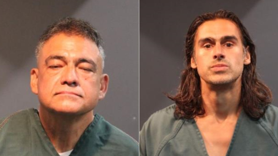 Sergio Magaña Arechiga (left) and Jaime Magaña Arechiga (right) are shown in photos released by the Santa Ana Police Department in 2020.