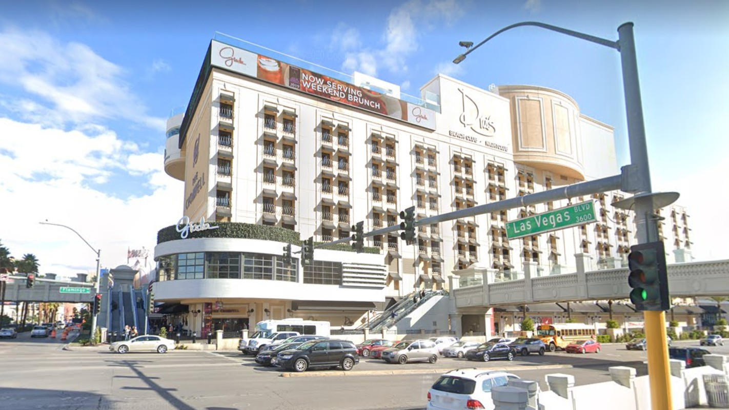 The Cromwell casino and hotel is seen in a Google Maps image.
