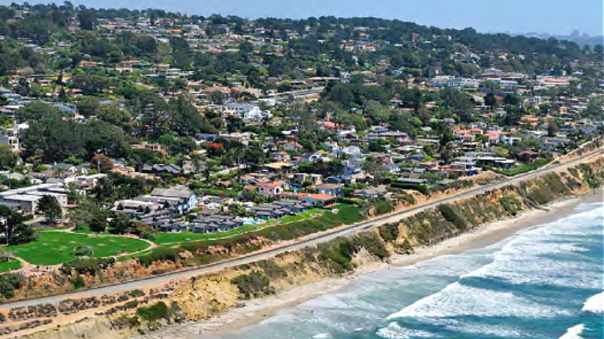 The city of Del Mar released this photo in outlining the fencing plan for the Del Mar bluffs.