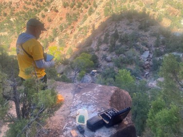 A drone from the Grand Canyon National Park Emergency Service Team was used in the October 2020 search for Holly Courtier. (Zion National Park)