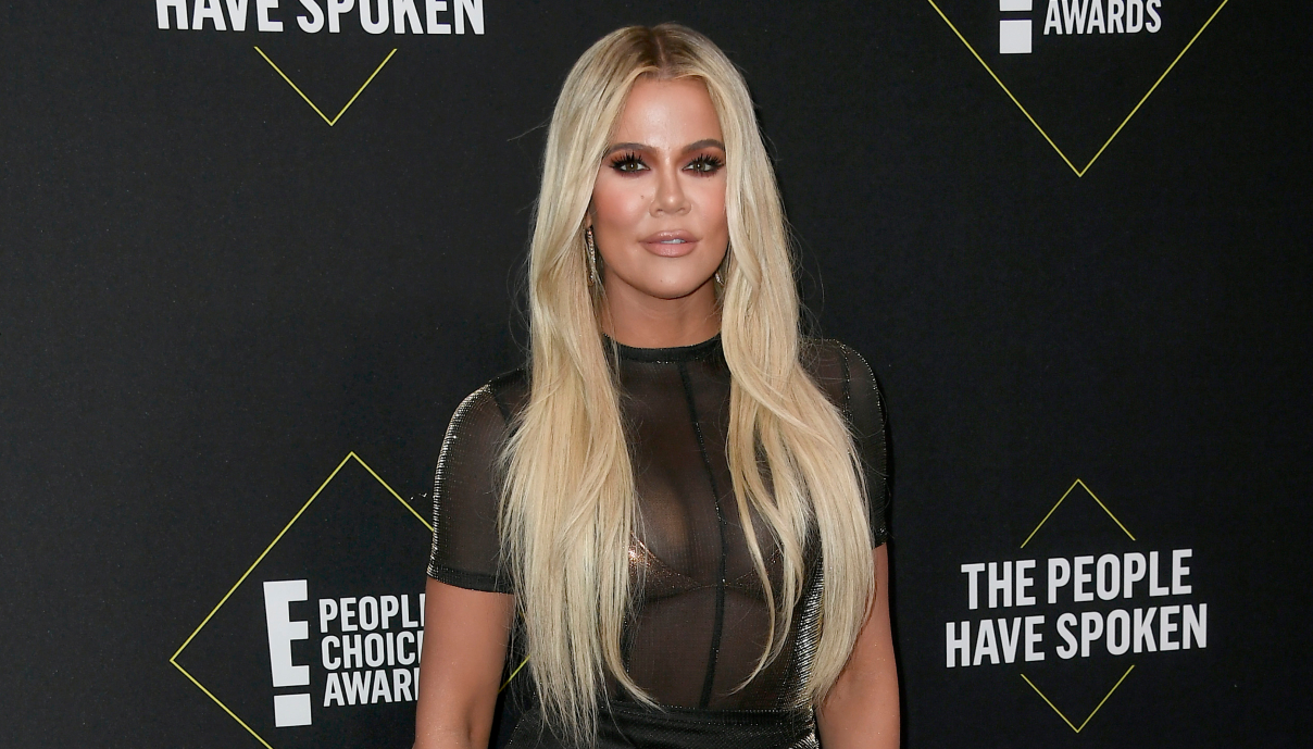 Khloé Kardashian attends the 2019 E! People's Choice Awards at Barker Hangar in Santa Monica on Nov. 10, 2019. (Frazer Harrison / Getty Images)