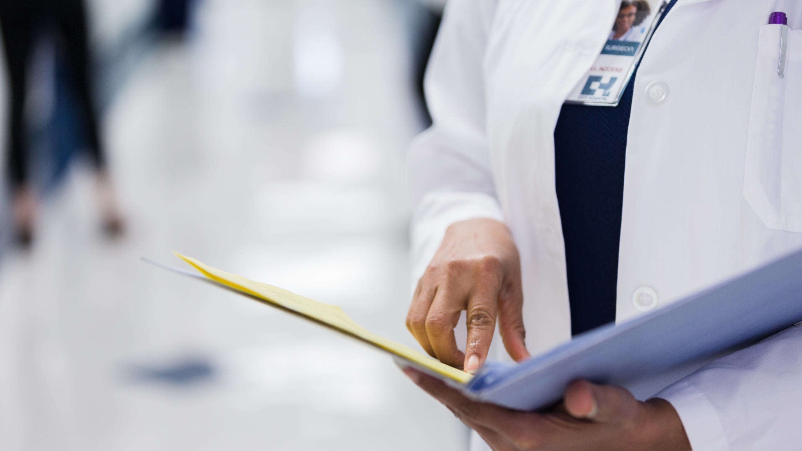 A doctor reads a file in this undated file photo. (Getty Images)
