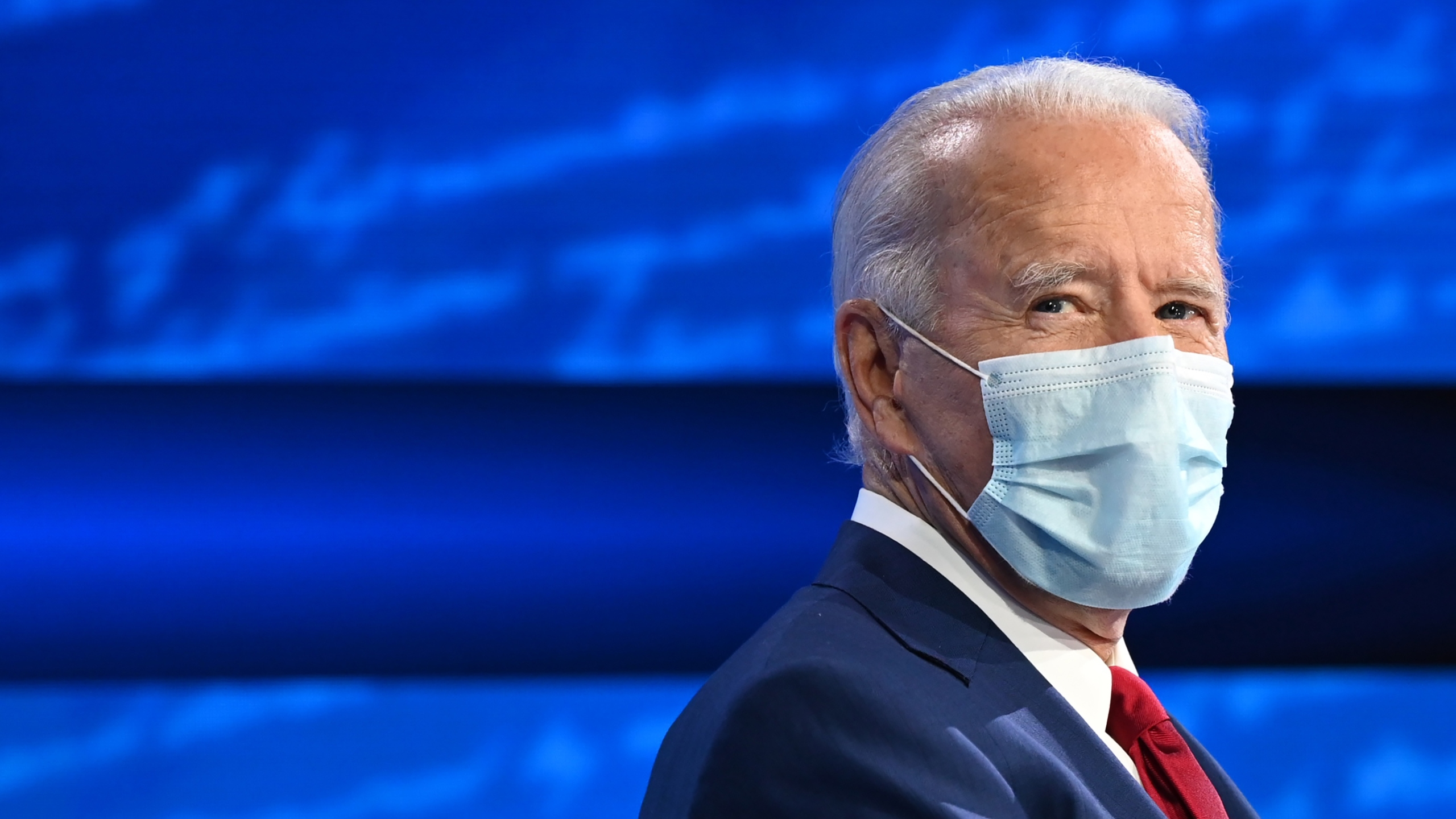 Democratic presidential candidate and former Vice President Joe Biden participates in an ABC News town hall in Philadelphia on Oct. 15, 2020. (Jim Watson / AFP / Getty Images)