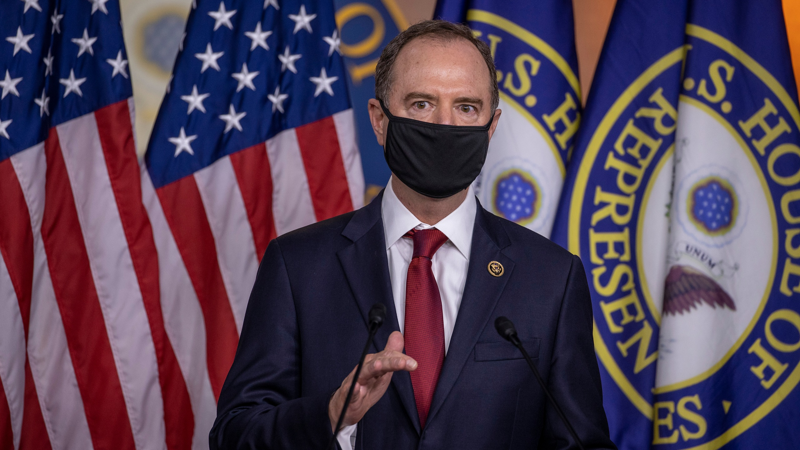 Rep. Adam Schiff (D-CA) speaks at a press conference on Capitol Hill on June 30, 2020. (Tasos Katopodis/Getty Images)