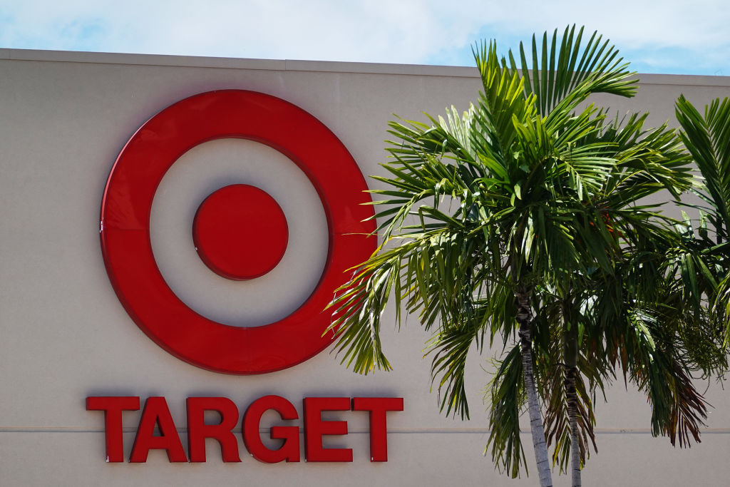 A sign is seen outside of a Target store on August 19, 2020 in Miami, Florida. (Joe Raedle/Getty Images)