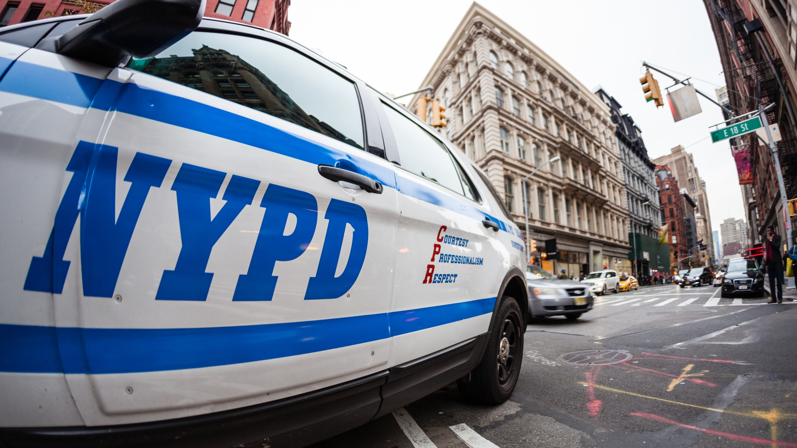 An NYPD police car is seen in this undated file photo. (Getty Images)
