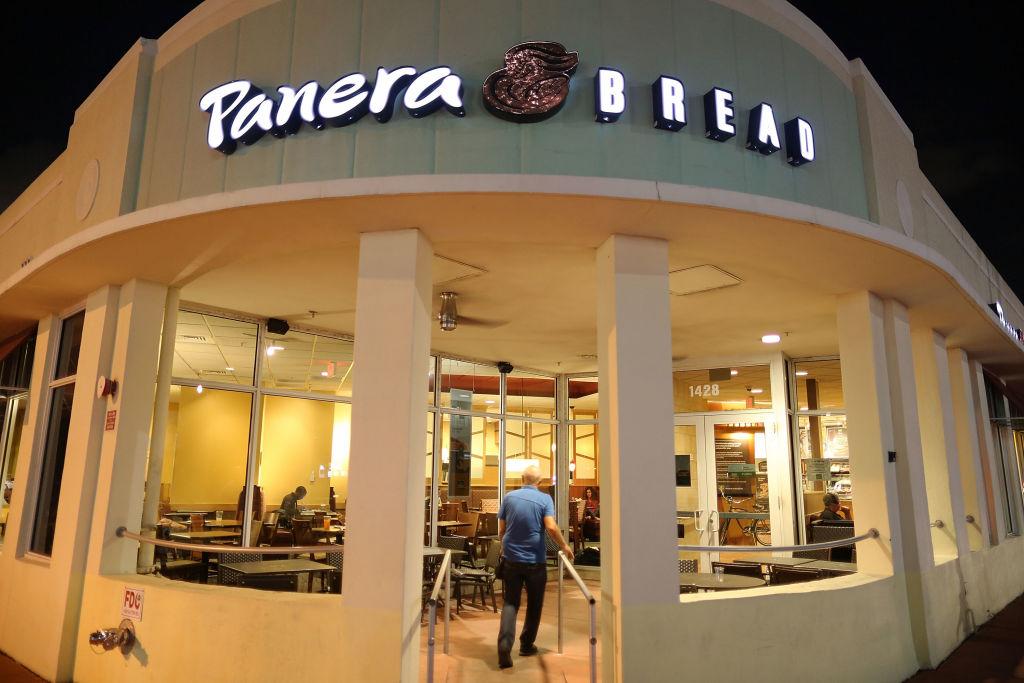 A Panera Bread restaurant is seen on Nov. 8, 2017 in Miami Beach, Florida. (Joe Raedle/Getty Images)