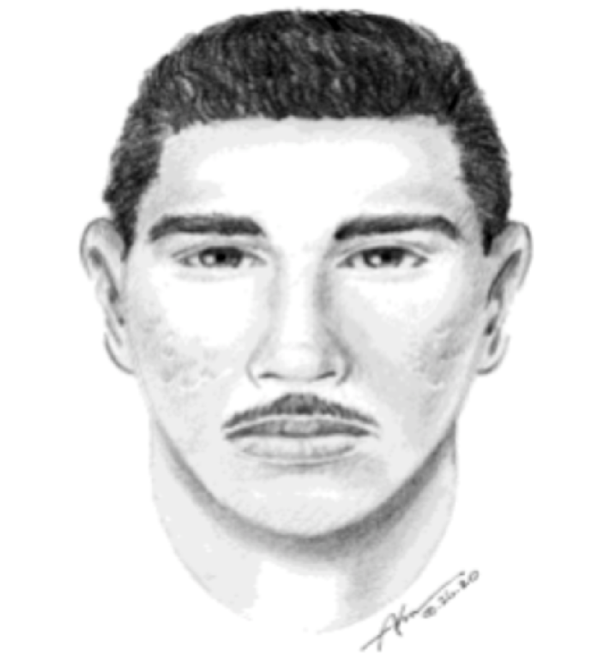 LAPD released this composite sketch of a man suspected of assaulting a sleeping woman in her home in Van Nuys on Aug. 24, 2020.