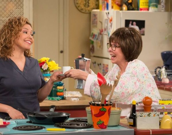"""Justina Machado, left, played a single mother of two, with Rita Moreno as her mother, in the Netflix reboot of """"One Day at a Time."""" (Michael Yarish/Netflix)"""