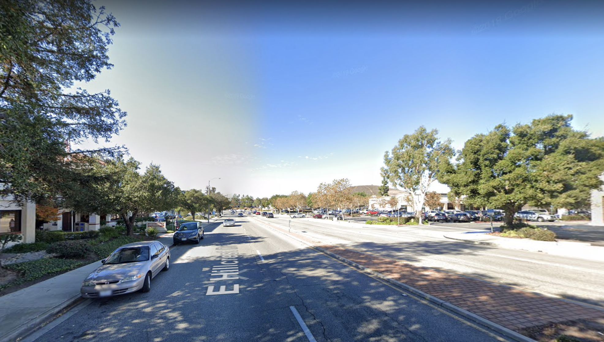 The area of 80 E. Hillcrest Drive in Thousand Oaks appears in this image from Google Maps' street view.