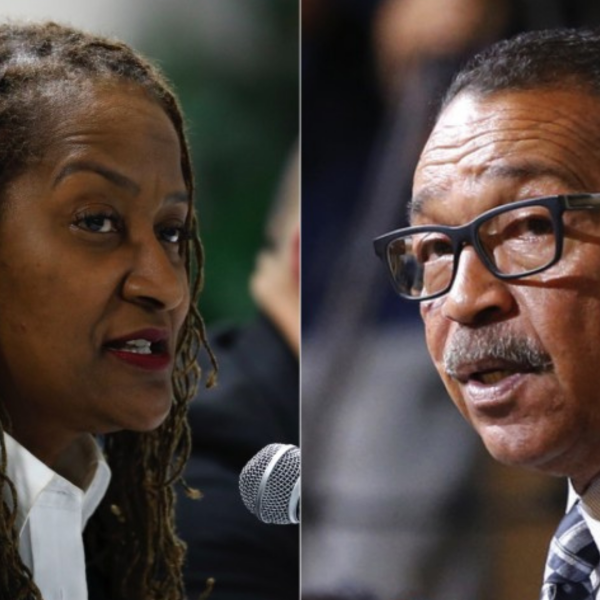 State Sen. Holly Mitchell and Los Angeles Councilman Herb Wesson appear in undated file photos. (Los Angeles Times)