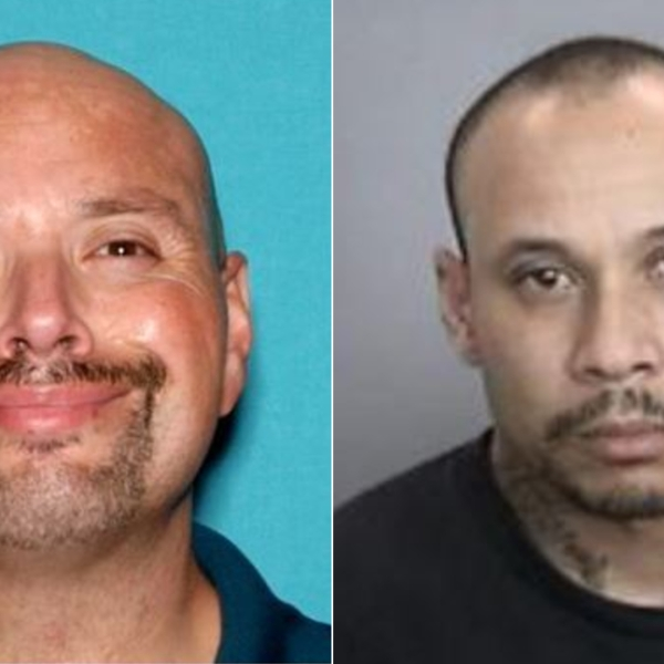 Homicide victim Gabriel Garcia, left, and suspect Lionel Cruz are seen in undated photos released Oct. 15, 2020, by the Anaheim Police Department.