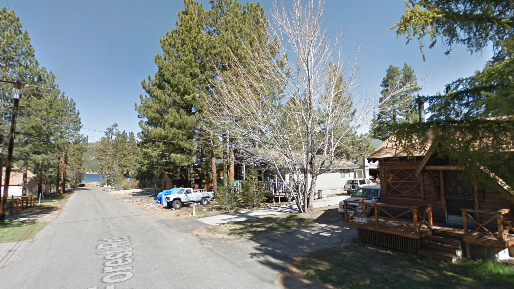 The 39000 block of Forest Road in Big Bear is seen in a Google Maps Street View image.