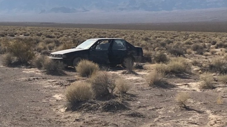 A car found at the scene.(Nye County Sheriff's Office)