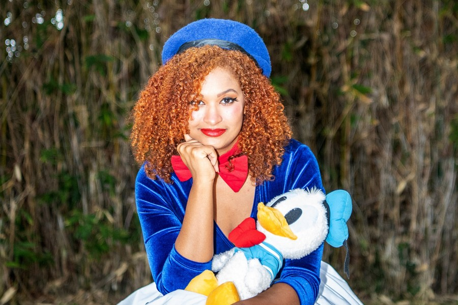 Disneyland superfan Lauren Gabourel poses for a portrait in this undated photo. (Mariah Tauger / Los Angeles Times)