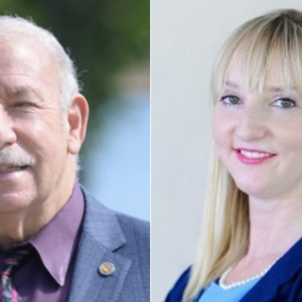 Scott Schmerelson, left, is seen in a photo from his campaign website, and Marilyn Koziatek is seen in a photo posted to her Facebook page.