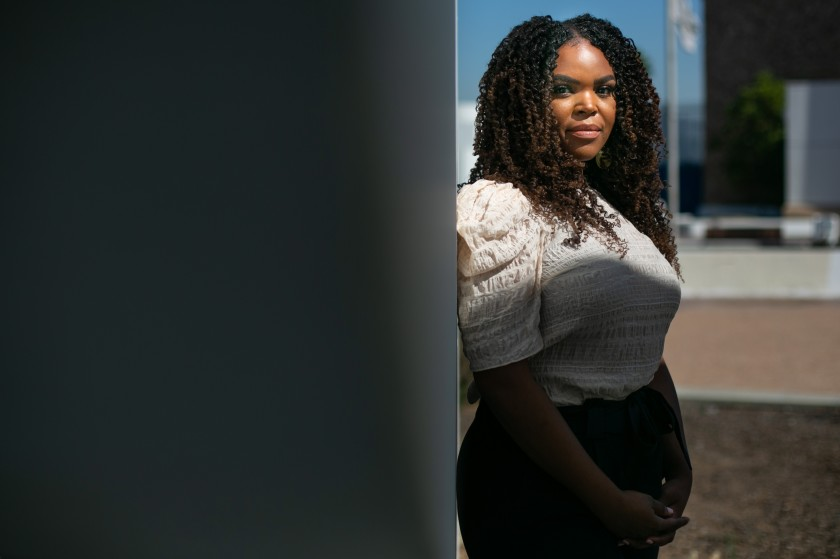 Compton Mayor Aja Brown and others are demanding changes in the way the city is policed.(Jason Armond / Los Angeles Times)