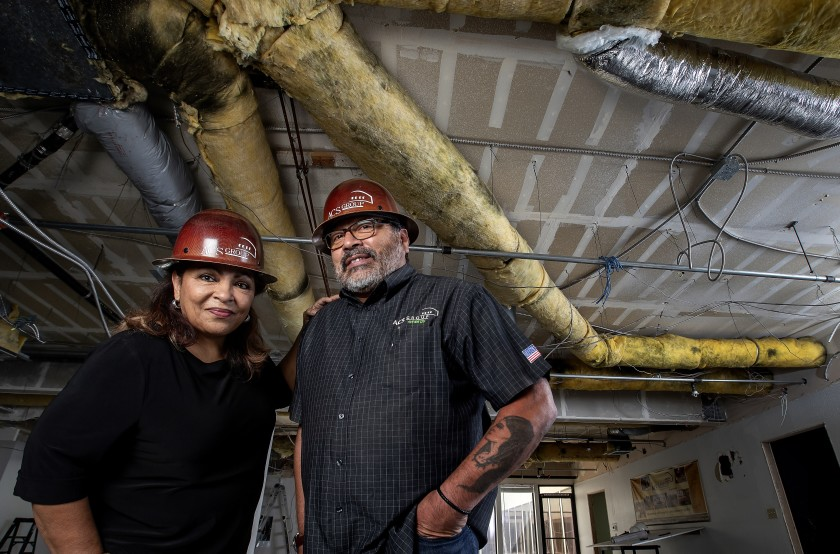 Anna Sauceda, who with husband Darrel Sauceda owns construction firm ACS Group, says affirmative action gave their careers a toehold in the 1980s.(Mel Melcon / Los Angeles Times)