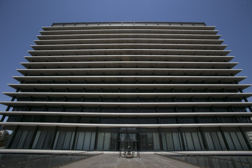The Los Angeles Department of Water and Power headquarters is seen in a file photo. (Robert Gauthier / Los Angeles Times)