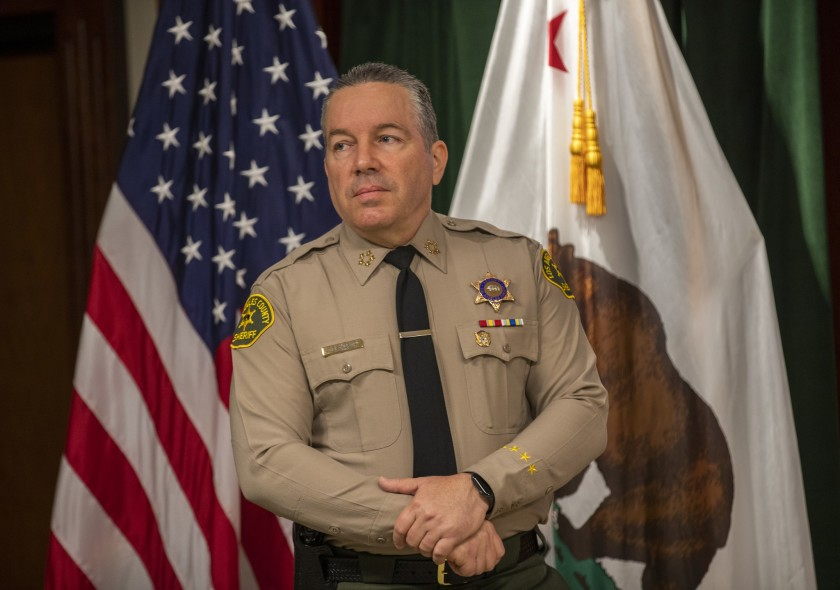 Los Angeles County Sheriff Alex Villanueva is seen in an undated file photo. (Allen J. Schaben / Los Angeles Times)