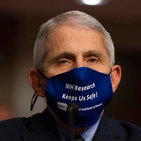 Dr. Anthony Fauci, Director of the National Institute of Allergy and Infectious Diseases at the National Institutes of Health, listens during a Senate Health, Education, Labor, and Pensions Committee Hearing on the federal government response to COVID-19 in September.(Graeme Jennings/Pool via AP)