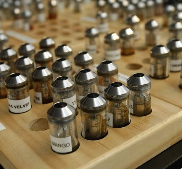 Flavored vaping cartridges are shown in an undated photo. (Gary Friedman/Los Angeles Times)