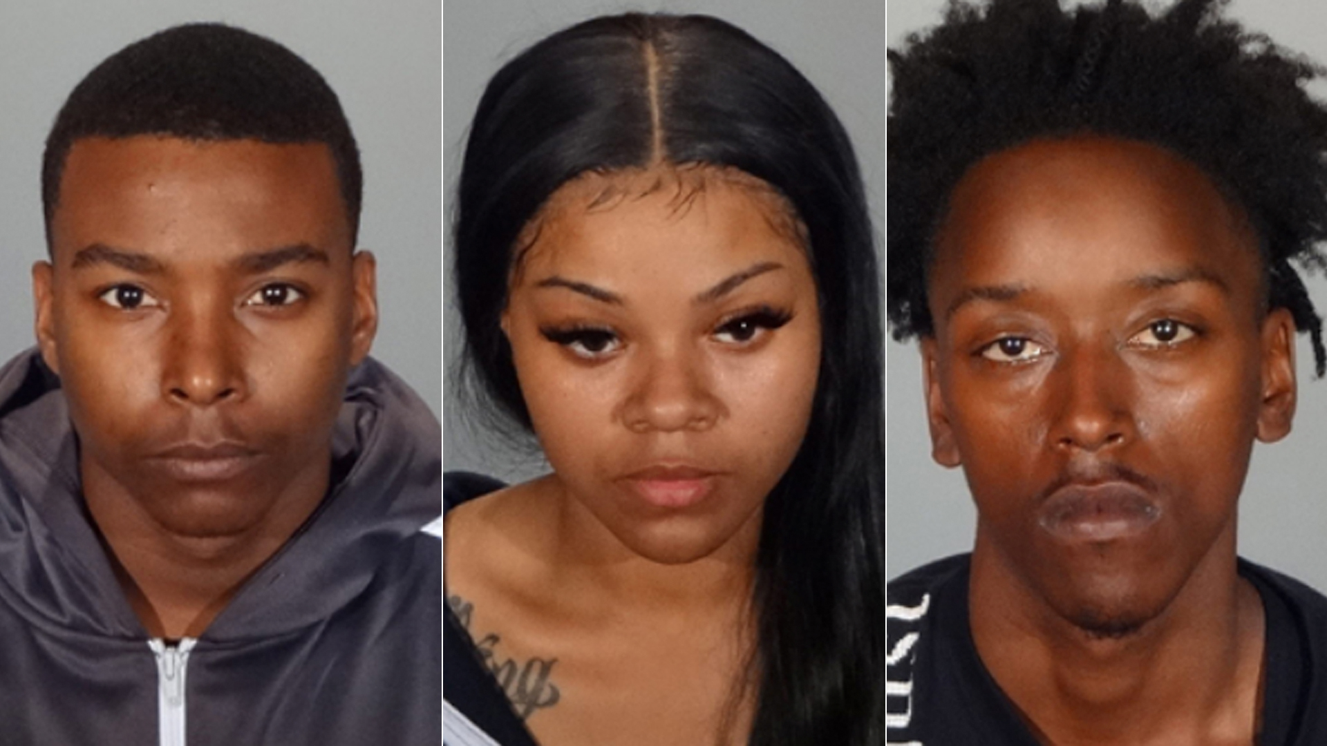 (Left to right) Arthur Reddick, Kevionta Jarvis and Terrell Leflore are shown in photos released by the Glendale Police Department on Oct. 23, 2020.