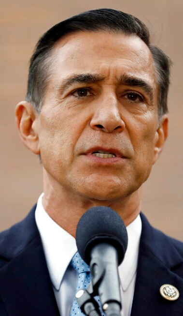 Former Republican congressman Darrell Issa speaks during a news conference in El Cajon on Sept. 26, 2019. (AP Photo/Gregory Bull, File)