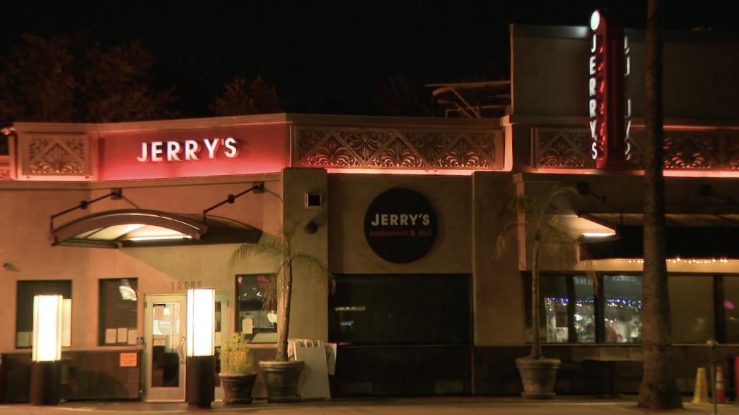 Jerry's Famous Deli in Studio City is seen on Oct. 30, 2020. (KTLA)