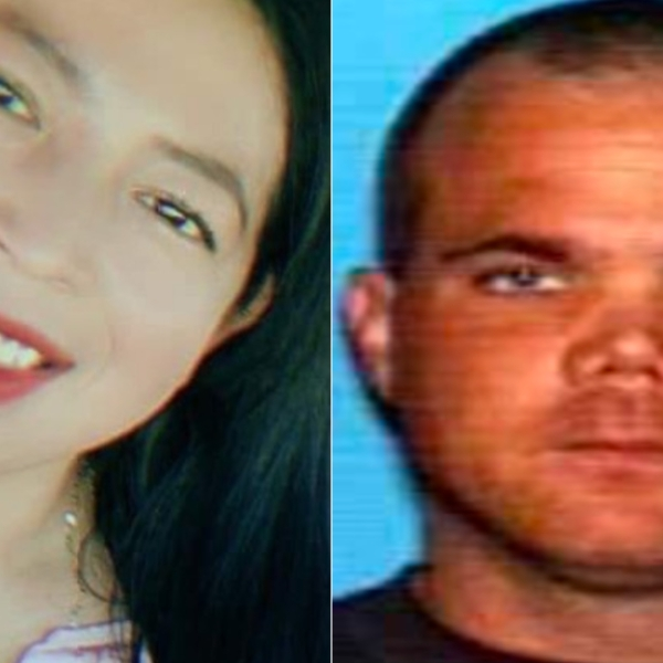 Marlen Benitez Munoz, left, is seen in a photo provided by her family. Robert Spargo in seen in a photo released by the San Bernardino Police Department.