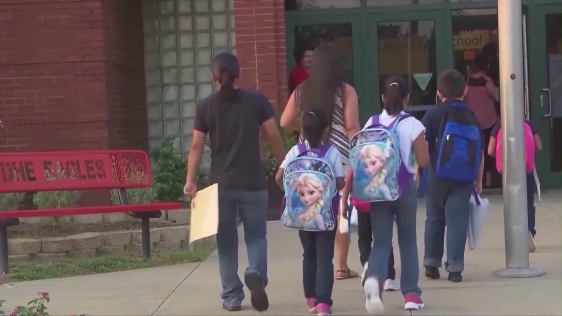 Children walk to school in this undated file image. (KTLA)