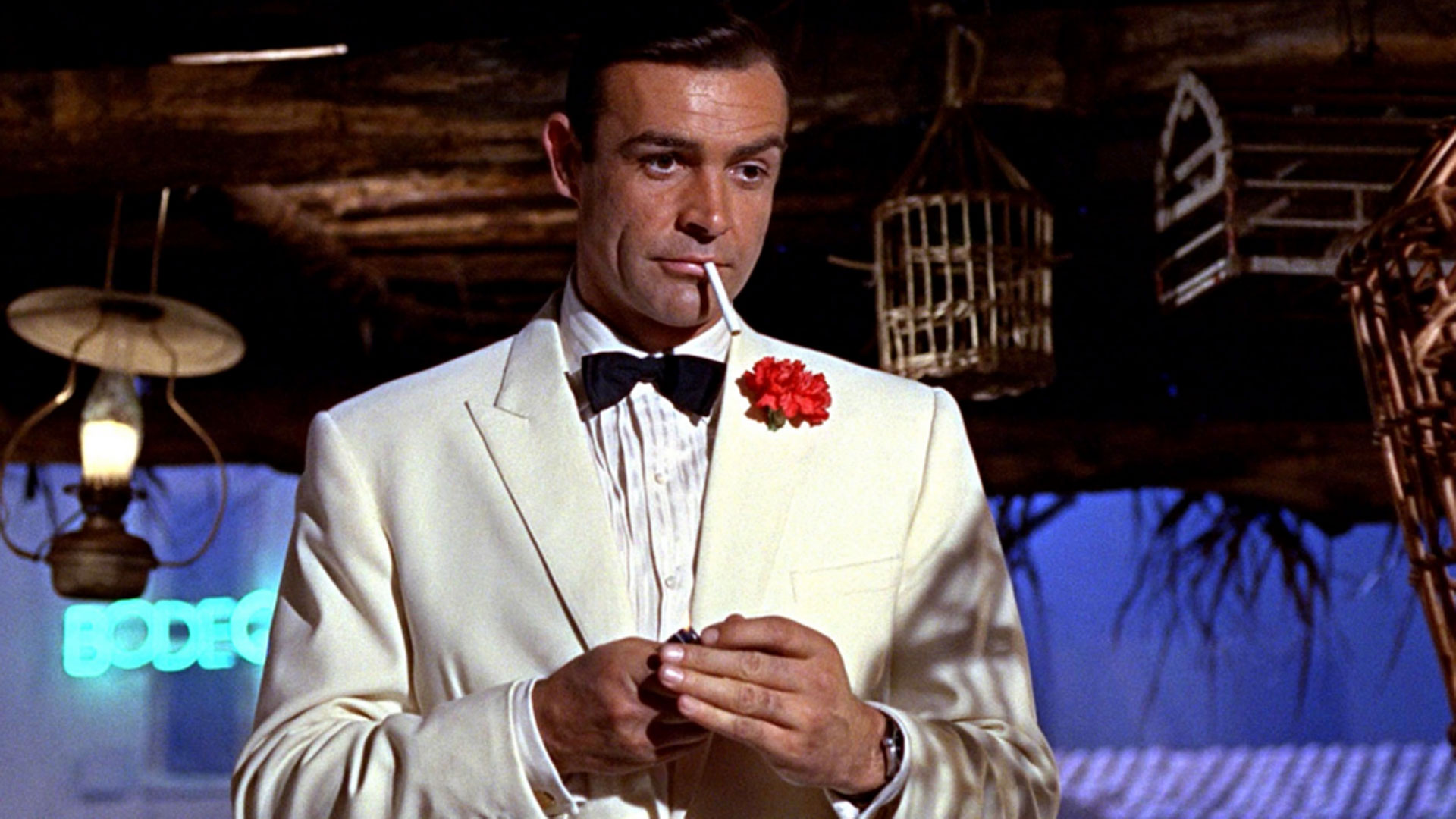 "Actor Sean Connery plays James Bond in the 007 film ""Goldfinger."" (Eon Productions)"