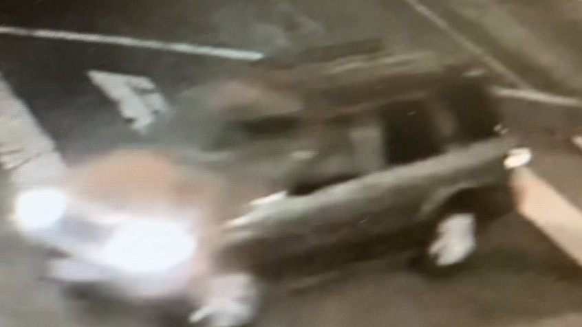 The vehicle sought in a fatal hit-and-run crash is seen in this image provided by the Los Angeles Police Department.