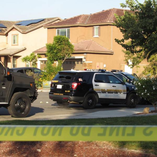 Riverside County sheriff's deputies investigate a shooting by their agency in the area of Alpaca Court and Fuller Ranch Road in Eastvale on Nov. 14, 2020. (Riverside County Sheriff's Department, Facebook)