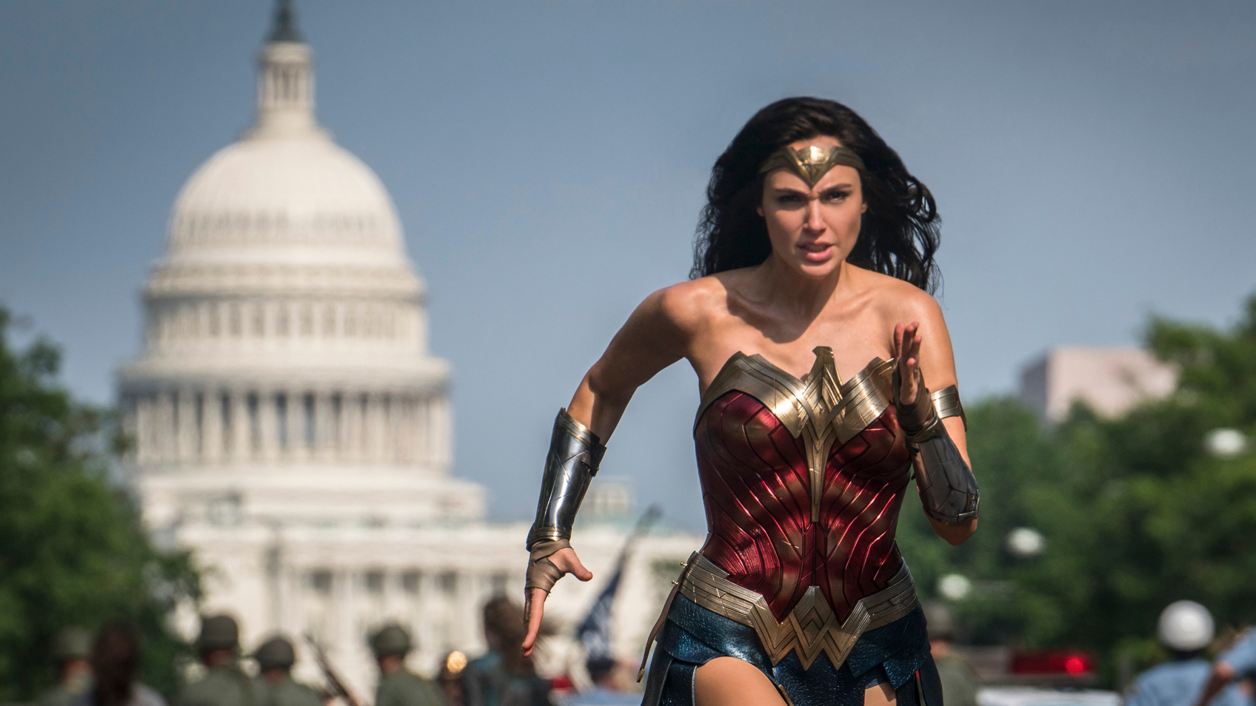 "This image released by Warner Bros. Pictures shows Gal Gadot as Wonder Woman in a scene from ""Wonder Woman 1984."" (Clay Enos / Warner Bros Pictures via Associated Press)"