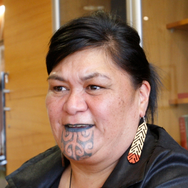 New Zealand's Foreign Minister Nanaia Mahuta speaks during an interview in her office Wednesday, Nov. 25, 2020, in Wellington, New Zealand. (Nick Perry/AP Photo)