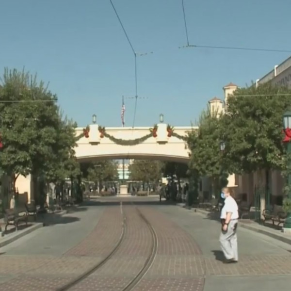 The inside of Disney California Adventure is seen on Nov. 18, 2020. (KTLA)
