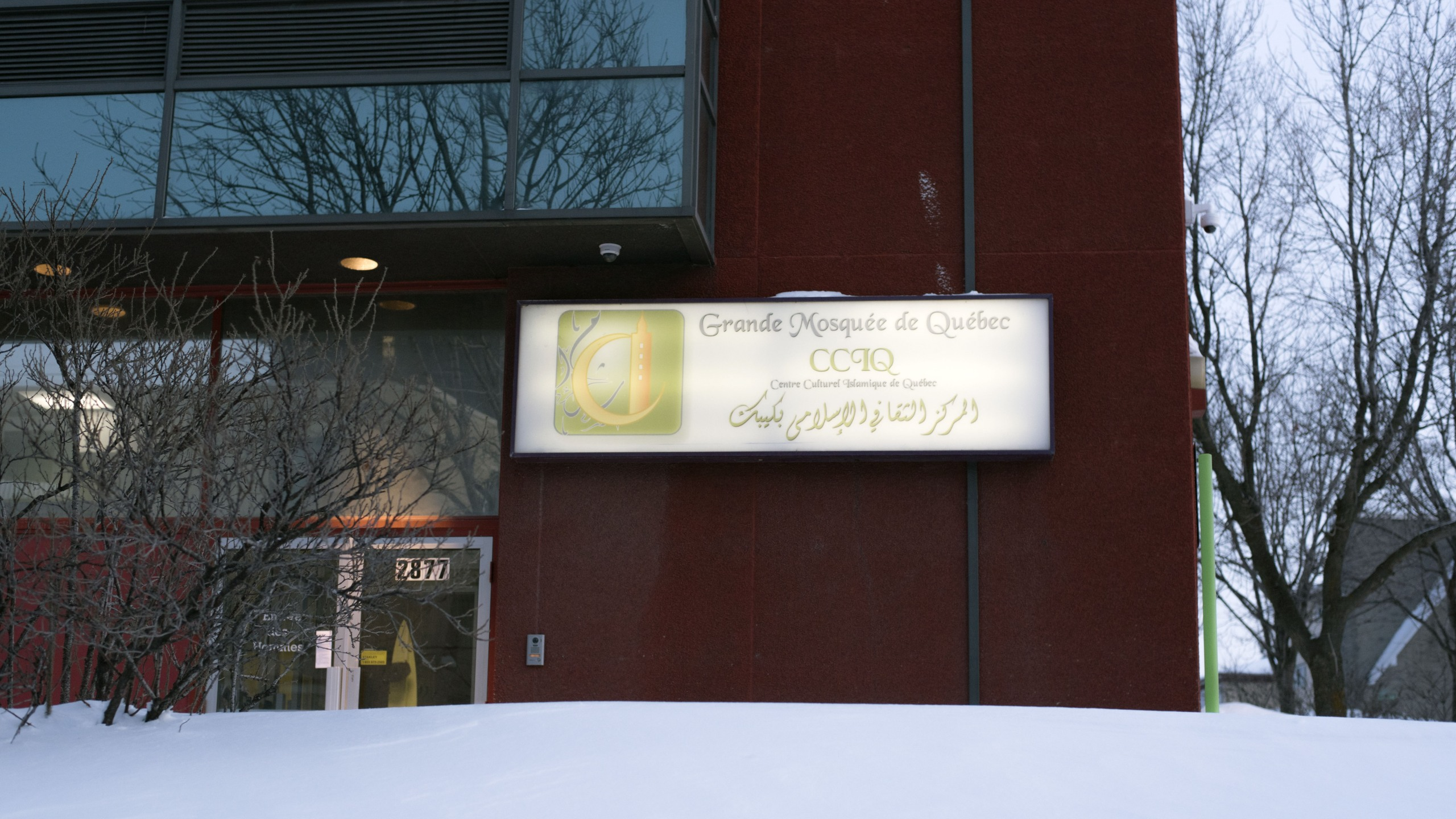 The Islamic Cultural Center of Quebec, where an attack took place on January 29, 2017 is viewed in Quebec City, Canada on January 22, 2019. (Photo by Alice Chiche/AFP via Getty Images)