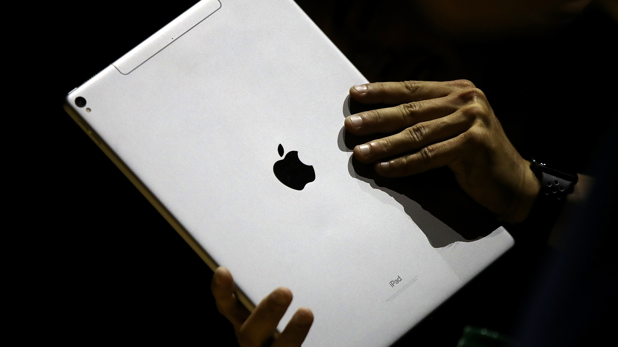 The new iPad Pro is displayed during the 2017 Apple Worldwide Developer Conference at the San Jose Convention Center on June 5, 2017, in San Jose, California. (Justin Sullivan/Getty Images)