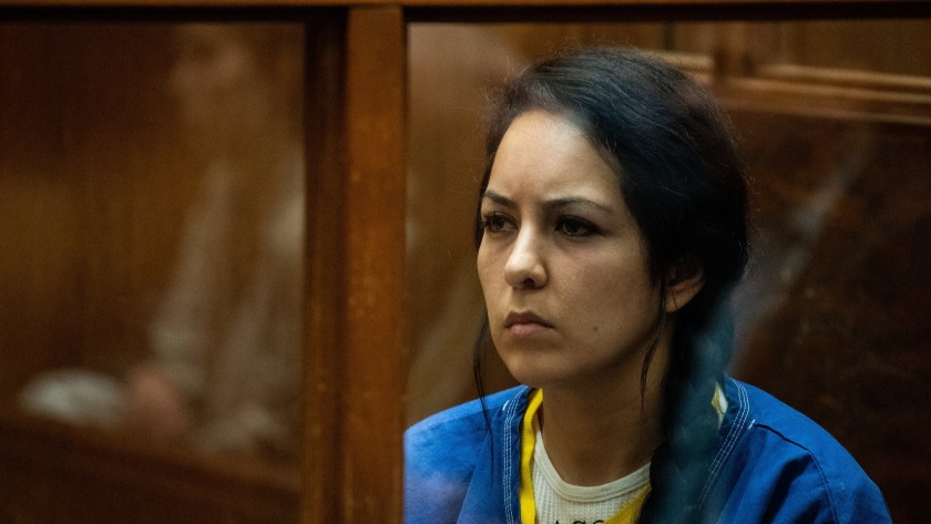 Alondra Ocampo appears in Los Angeles County Superior Court for an arraignment in June 2019. (Kent Nishimura / Los Angeles Times)