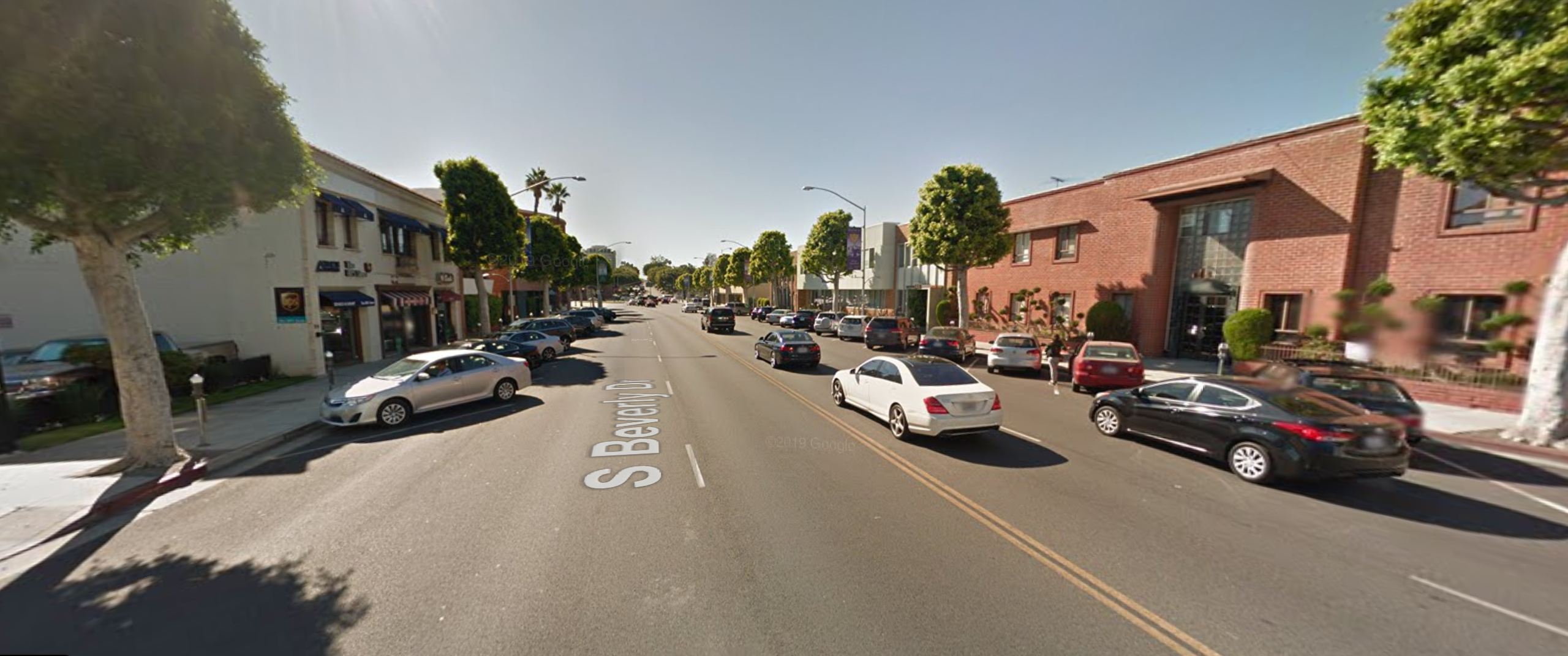 The 300 block of South Beverly Drive is seen in an undated Google Maps street view photo.