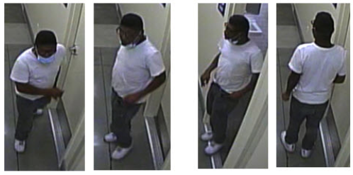 Police released a series of images of a man believed to have sexually assaulted a woman in a Bell Gardens store on Nov. 16, 2020.