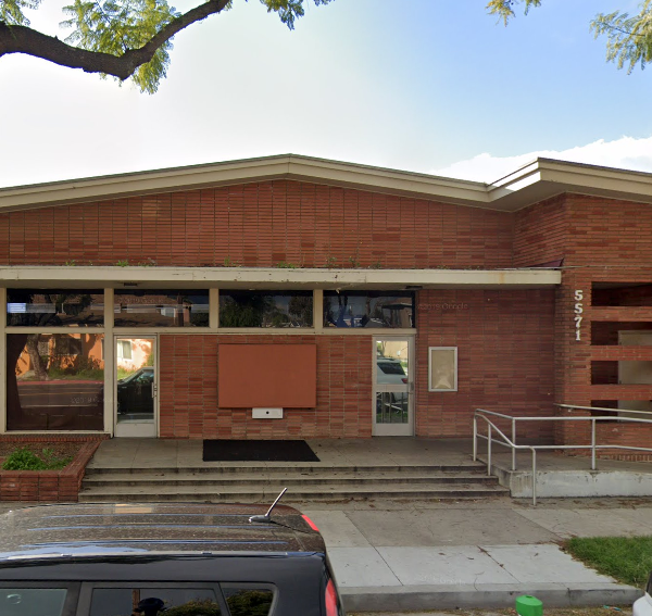 The former North Neighborhood Branch Library on 5571 Orange Ave. in Long Beach is seen in a Google Maps street view photo.